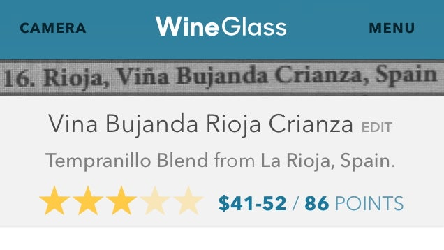 ​WineGlass Uses Your iPhone's Camera to Rate Wines