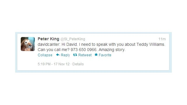 Hey, David Canter? Peter King Is Trying To Get In Touch, So Here's His Phone Number