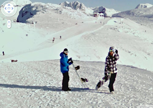 How Did This Snowboarder's Bird End Up On Google Street View?