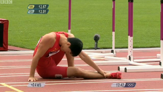 China's Most Famous Olympian Liu Xiang Crashes Out Of His Second Straight Olympics