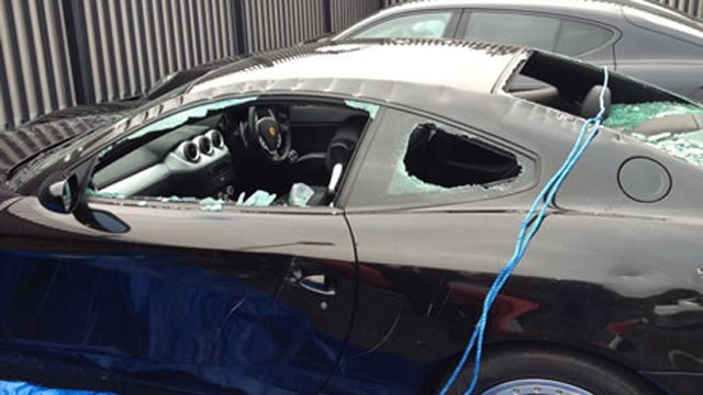 Axe-Wielding Man Commits Random Act Of Ferrari Destruction