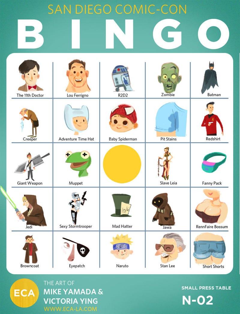 Let's Play San Diego Comic-Con Bingo!