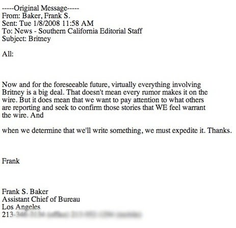 Memo: In Sweeping Policy Change, AP Alerts Staff Britney Is Now 'A Big Deal'