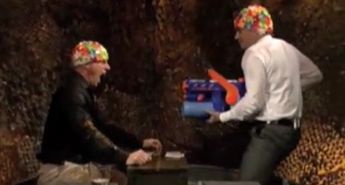Christopher Meloni and Jimmy Fallon Play a Hilarious and Intense Game of Water War