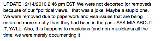 Brooklyn Rap Group Das Racist Deported from UK (Updated)