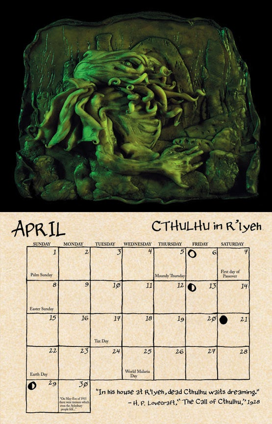 The disturbing carvings that Cthulhu-worshipers left behind