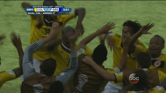 Colombia Know How To Celebrate A Goal