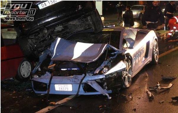Italian Police Total Lamborghini Cop Car