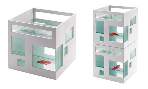 Round Fishbowls Too Mundane? Let Your Fish Live in a Fish Hotel