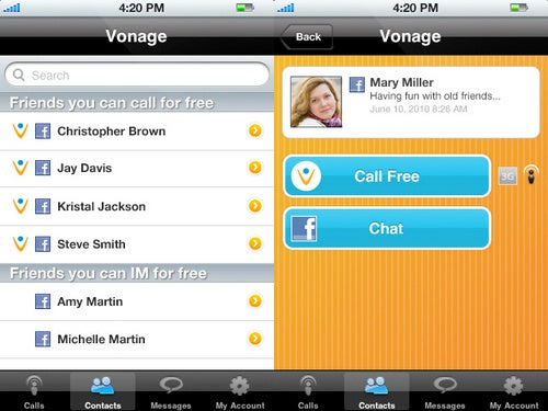 Vonage Mobile App Lets You Call Facebook Friends From iPhone or Android For Free