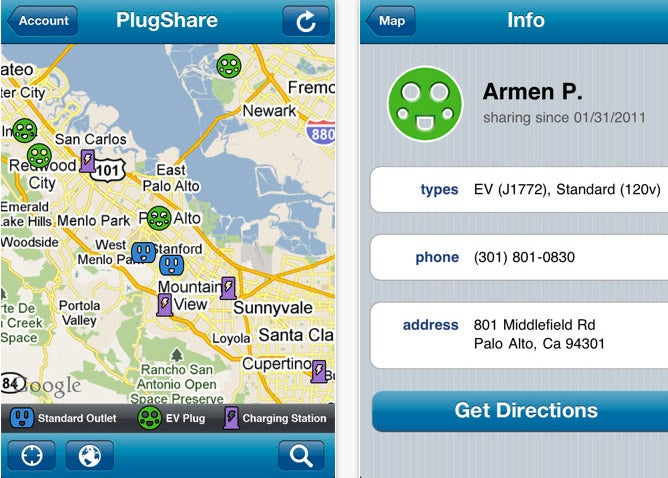 PlugShare App To Find Places To Charge Your Electric Car