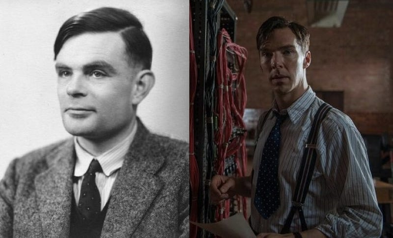 Benedict Cumberbatch as Alan Turing, the Father of Computer Science