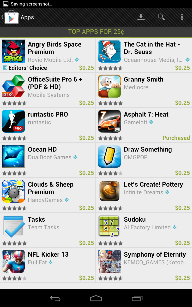 Google Play Celebrates 25 Billion Android App Downloads with $.25 Apps