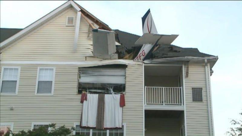 Plane Crashes Into Apartment, Pilot Walks Out Front Door