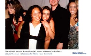 Optical Illusion Makes Lady Look Fat and Naked on Facebook