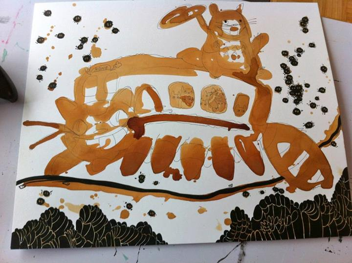 This Amazing Art Is Made Almost Entirely Out Of Tea Stains