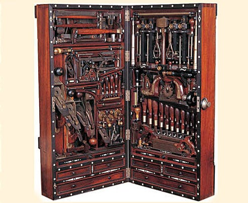 Late 1800s Studley Tool Chest is Function and Form