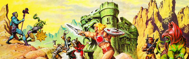 And now, the rock bottom of scifi art...The Masters of the Universe.