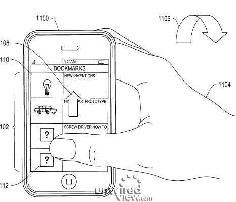 Apple Patents Movement Gestures for the iPhone