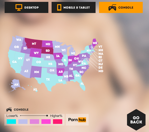 How Each U.S. State Likes to Watch Porn