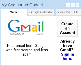 Clean up your homepage with the Compound gadget
