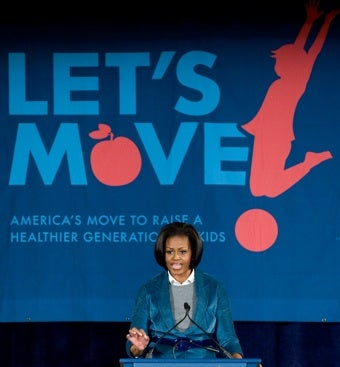 """Michelle Obama: """"'Let's Act. Let's Move. Let's Give Our Kids The Future They Deserve.''"""