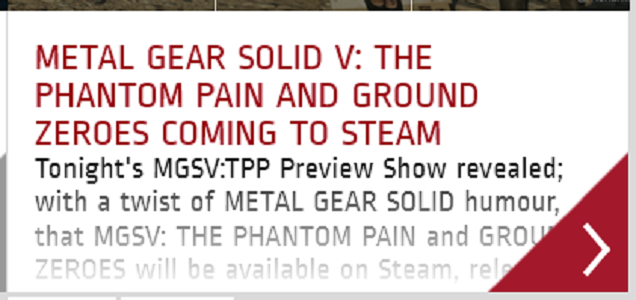 Metal Gear Solid V Is Coming To PC