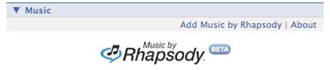 Rhapsody Makes Facebook App (Because Everyone Else Is Doing It)