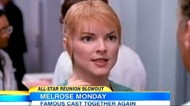 Melrose Place Stars Reunite for Some Pool-Shoving