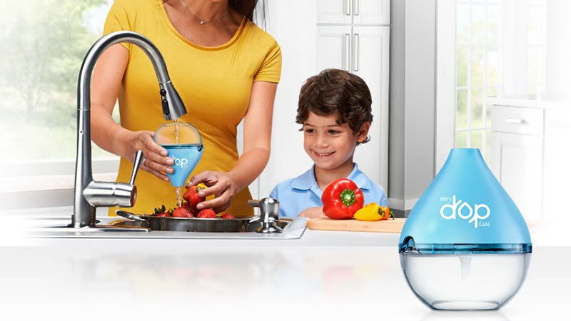 These Fantastic Funnels Filter Faucets as Fast as They Flow