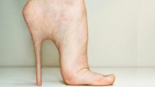 Stiletto implants make your feet look just like Barbie's