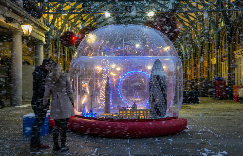 The world's largest Lego snow globe is so big it can fit people inside