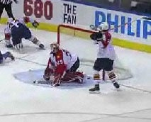 Panthers Goalie Thrashed By His Own Teammate