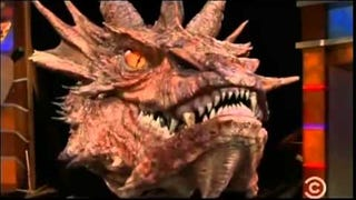 Stephen Colbert Interviews Smaug's Head