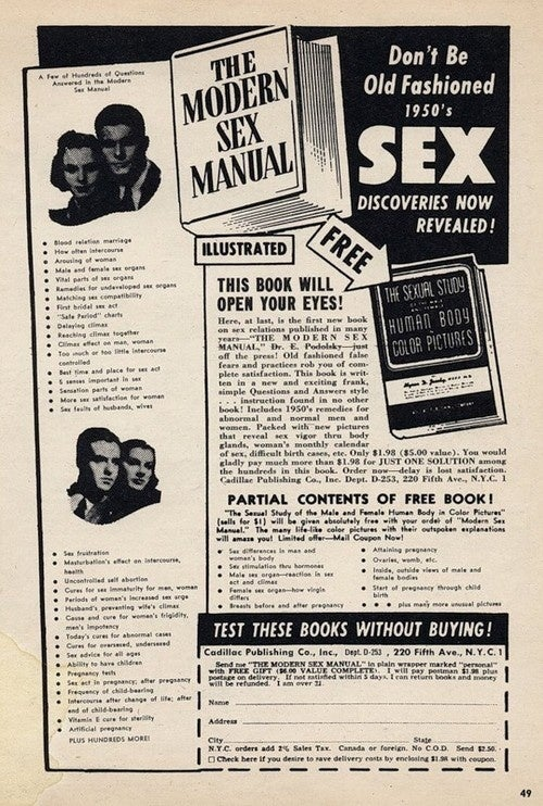 """1950s Remedies For Abnormal And Normal Men And Women"""