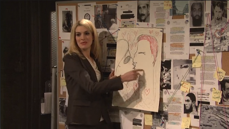 Watch Anne Hathaway Spoof Homeland On SNL