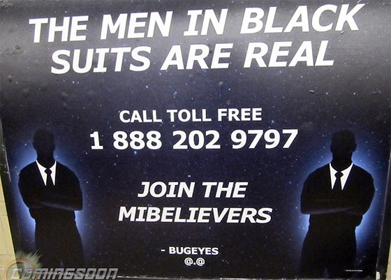 MIB3 Viral Poster in NYC Subway