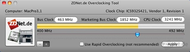 Mac Pro Overclocking Tool By ZDNet Boosts Cheapo Model to Whoa Mama Model