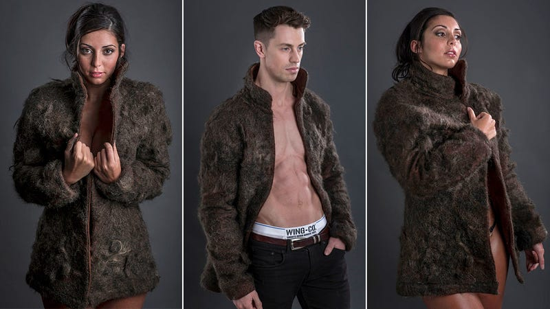 These Fur Coats Are Made Entirely of Human Chest Hair Because… Milk?