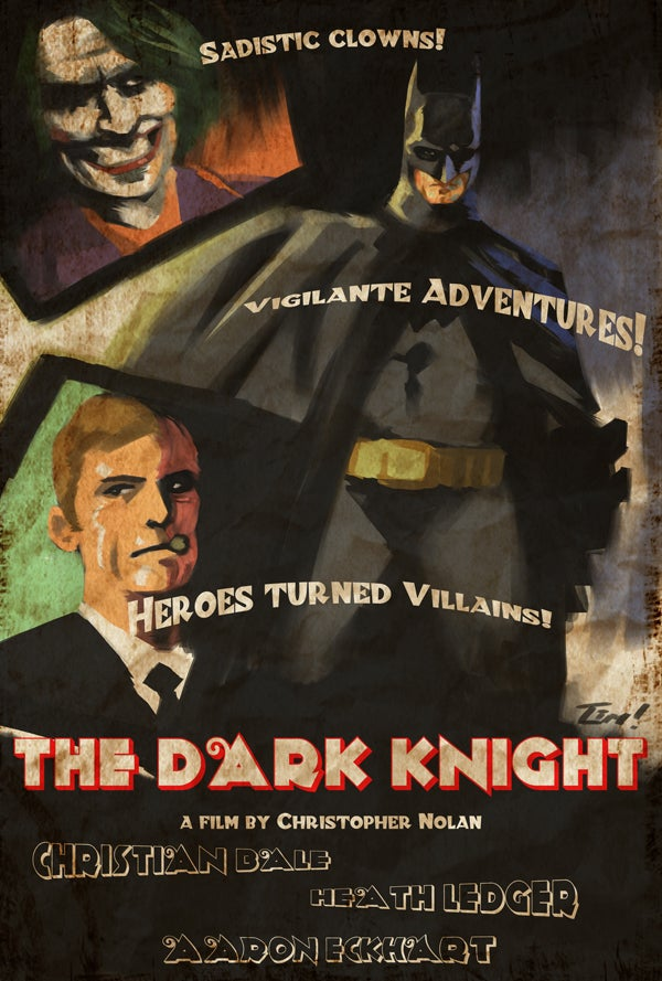 Noir Posters Capture the Pulpy Joy of Superhero Movies