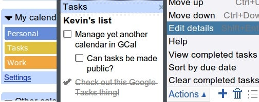 Google Calendar Integrates Tasks