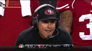 Hot Jim Harbaugh Tongue Action