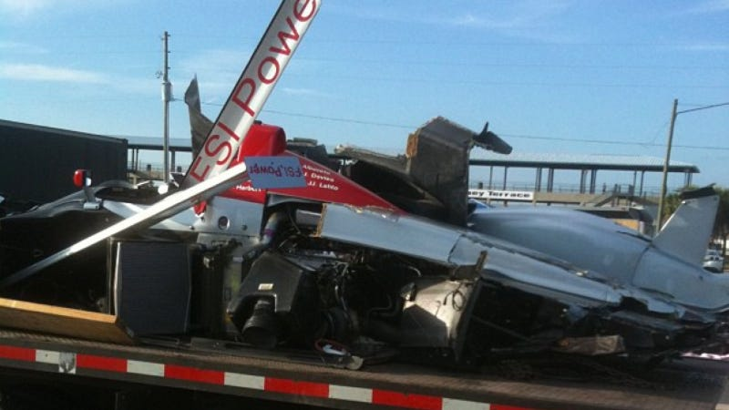 This Audi LeMans Prototype Apparently Crashed At Sebring This Week
