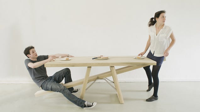 A Seesaw Table Is Definitely The Most Dangerous Way To Eat