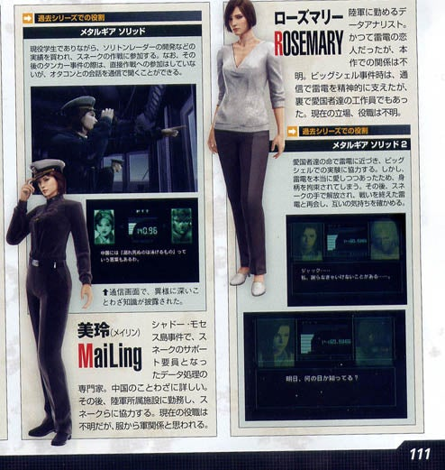 Two Characters Revealed for MGS4 (Spoilers!)
