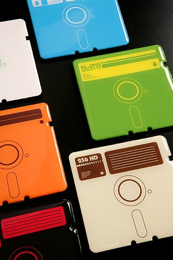 Floppy Coasters Help You Party Like It's 1979