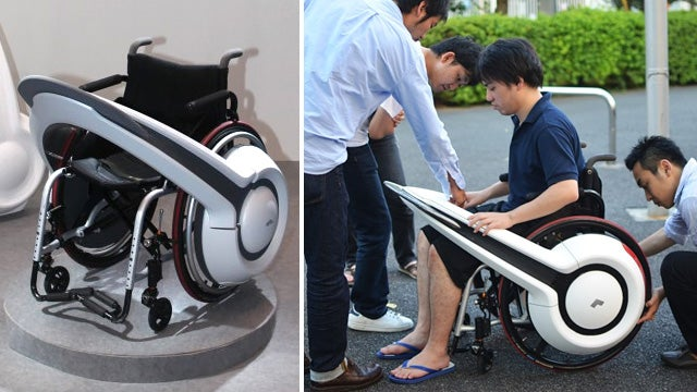 Clamp On WHILL Temporarily Gives Manual Wheelchairs Electric Drive