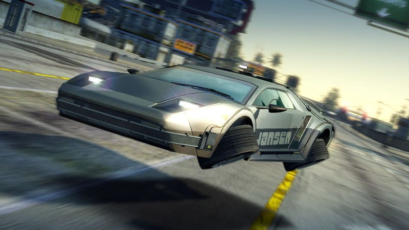 Burnout Paradise Gets Flying DeLorean, Calls It Jansen 88 Special