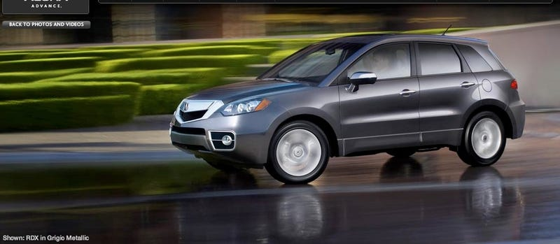 2010 Acura RDX: Less AWD, More Fugly
