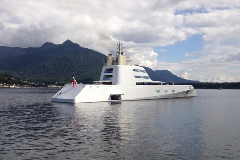 Super yacht 'A' in Seattle